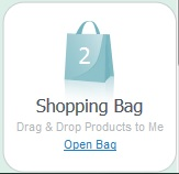 shopping bag widget