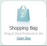 shopping bag widget